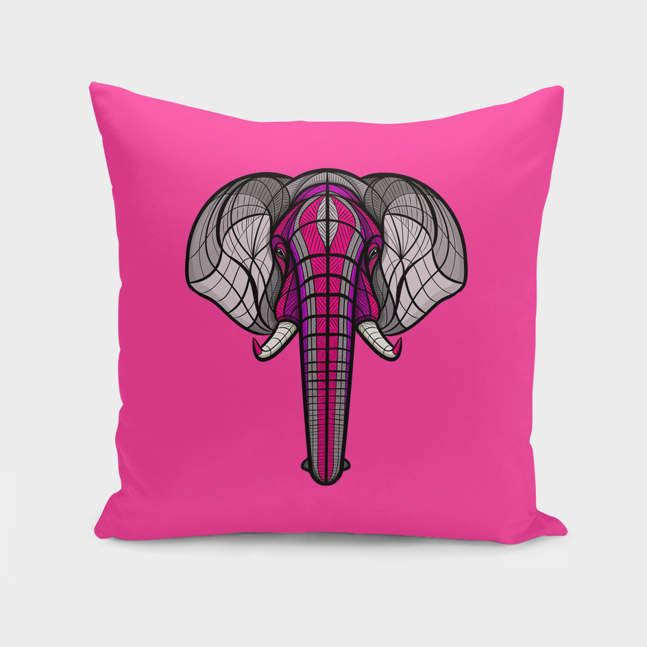 African Elephant Neon Violet