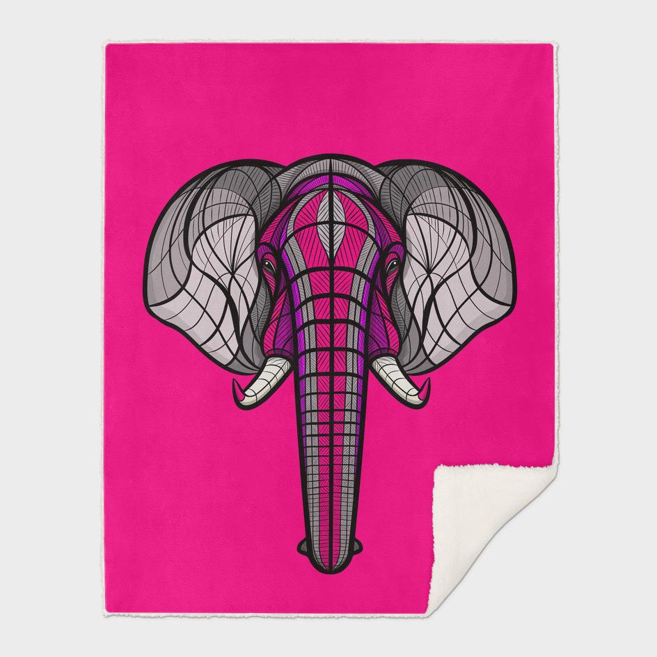 African Elephant Neon Violet