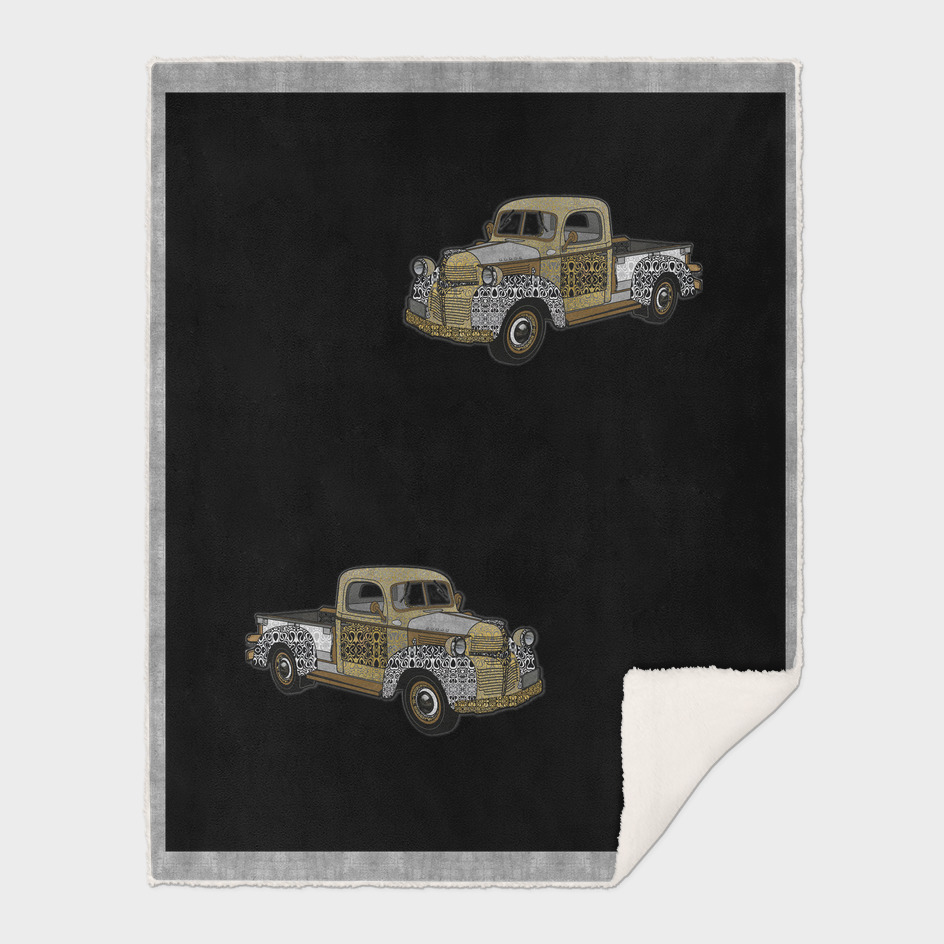 Dad's Old Truck (Black Ink Background)