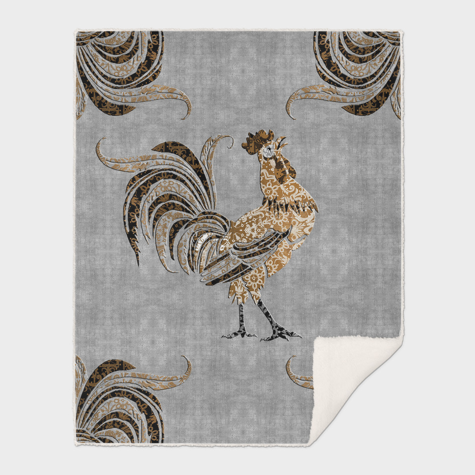 Le Coq Gaulois (The Gallic Rooster) Platinum Leaf