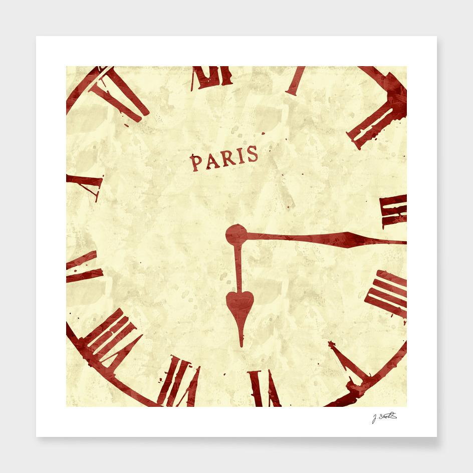 Time, old clock, Paris