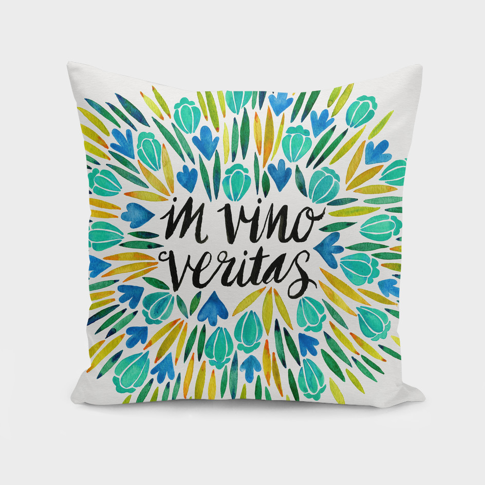In Vino Veritas (Blue/Yellow)