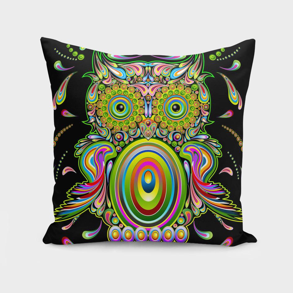 Owl Psychedelic Pop Art