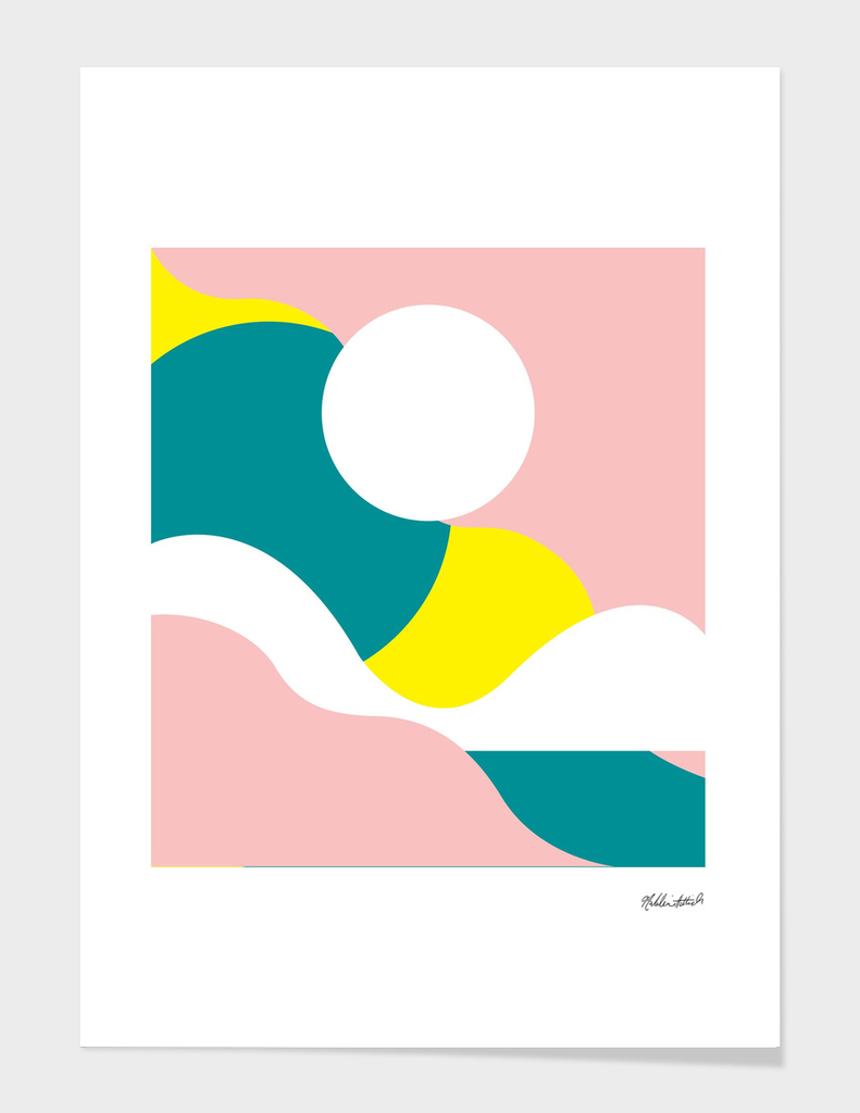 Graphic Sunset Poster 10