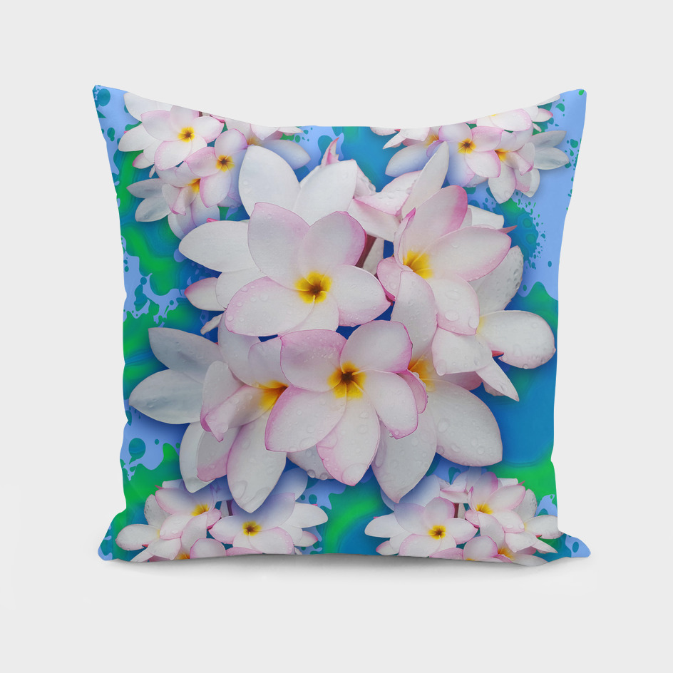 Plumeria Bouquet Exotic Summer Pattern