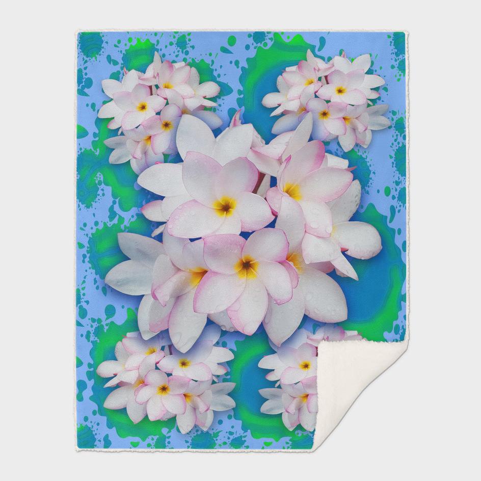 Plumeria Bouquet Exotic Summer Pattern