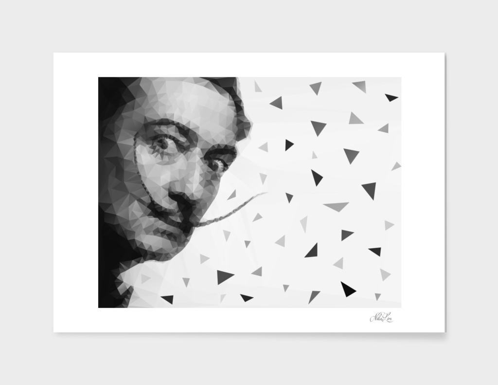 Dali Geometric Portrait