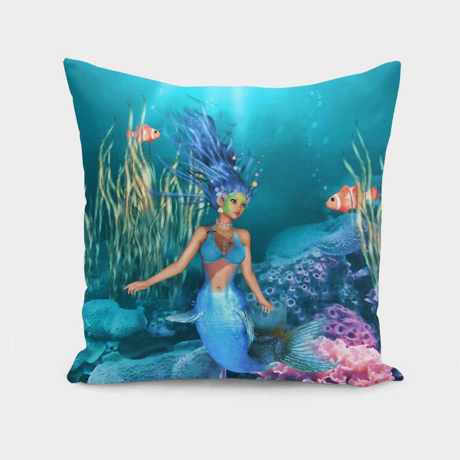 Under The Sea Ruby Blue Mermaid