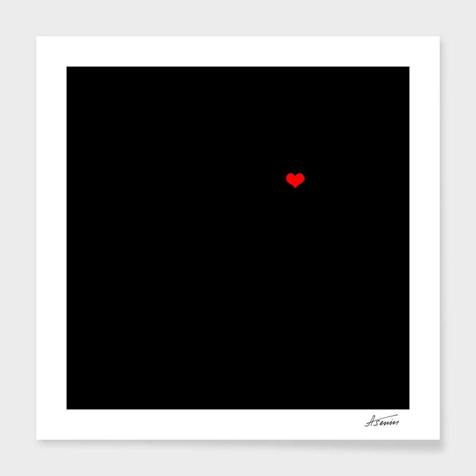 Digital Age Black Square With A Hot Pixel # 2