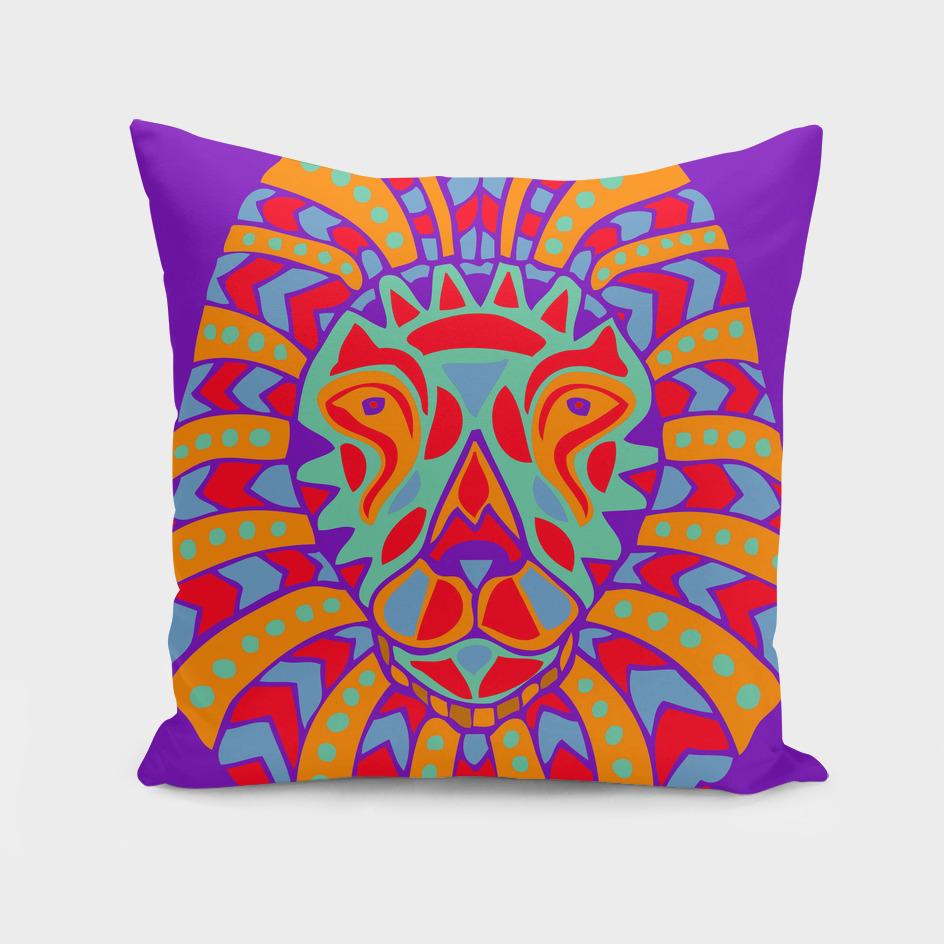 Aztec-style Lion Head Design #8
