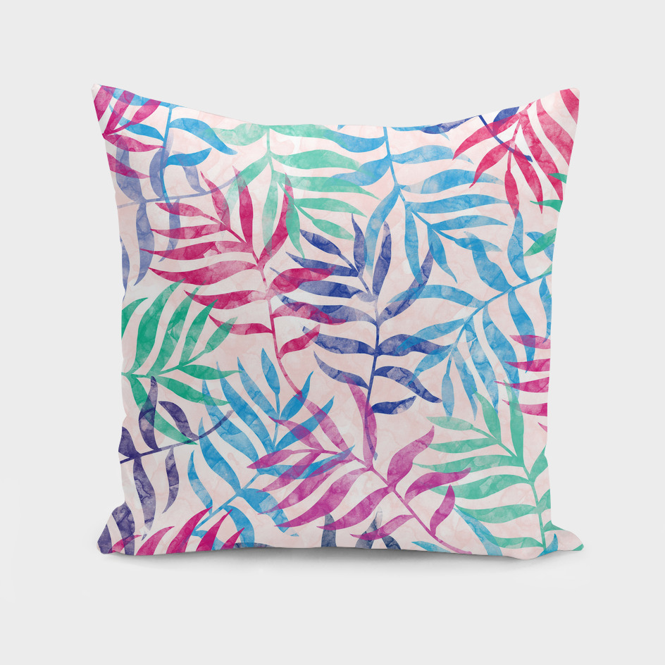 Watercolor Tropical Palm Leaves XVI