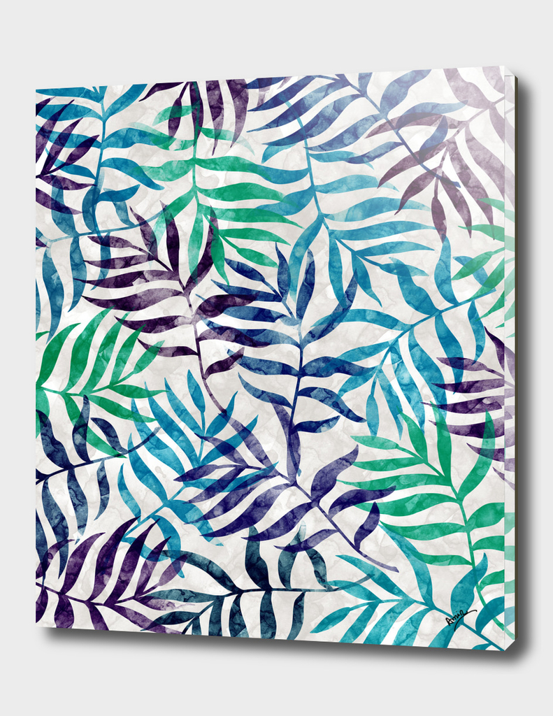 Watercolor Tropical Palm Leaves II