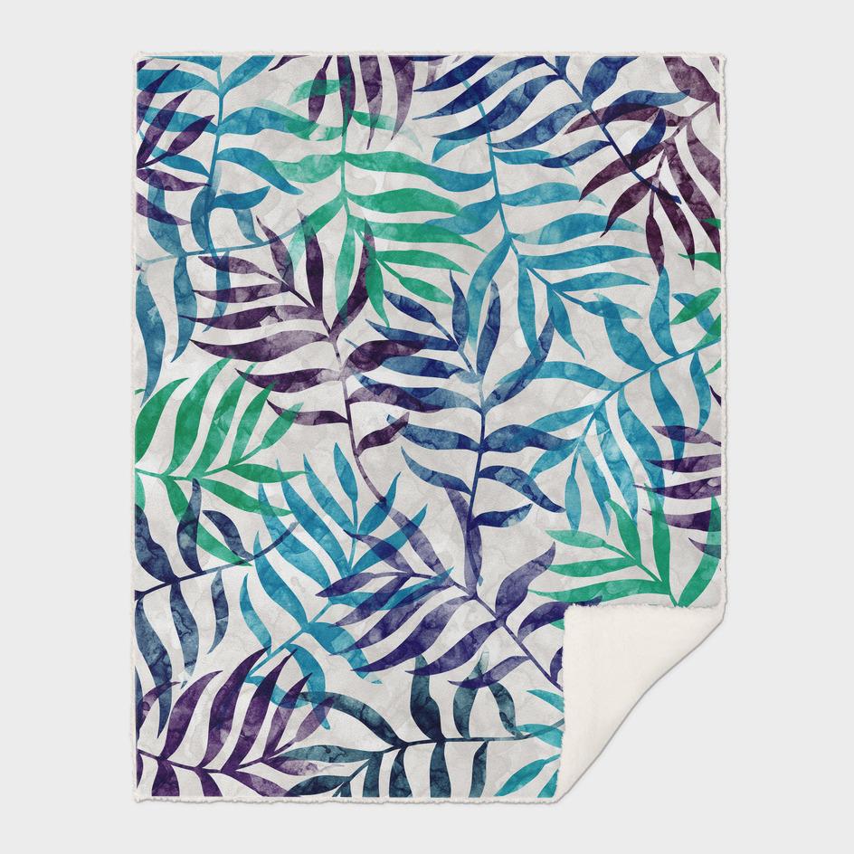 Watercolor Tropical Palm Leaves II
