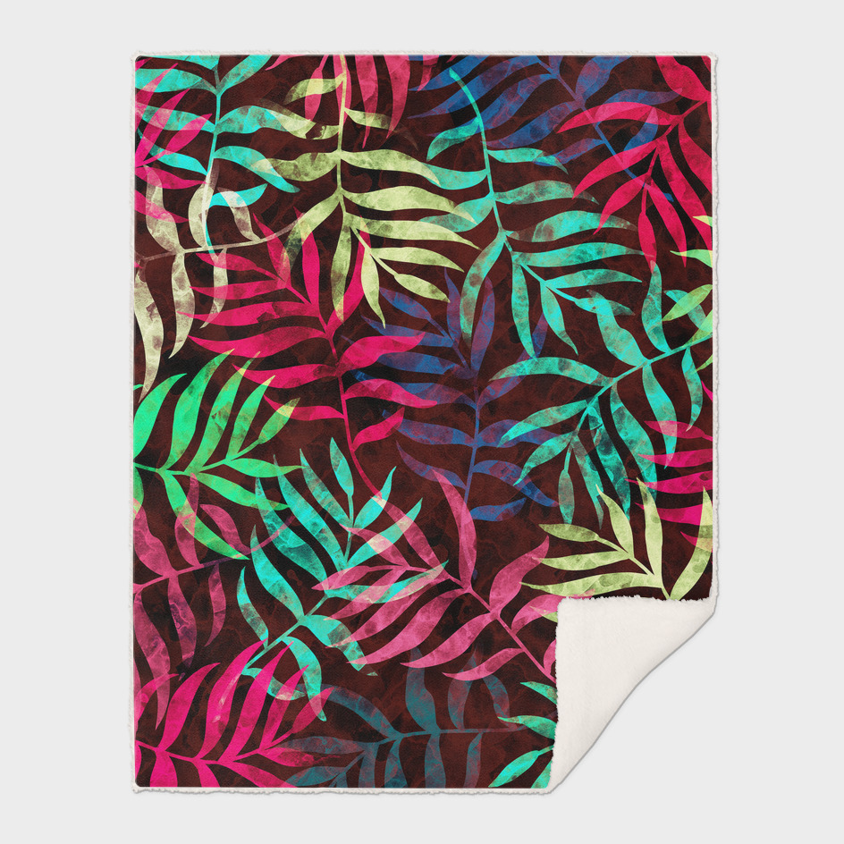 Watercolor Tropical Palm Leaves XIV