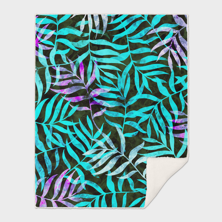 Watercolor Tropical Palm Leaves XIII