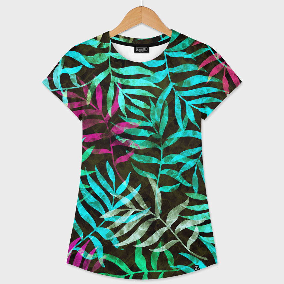 Watercolor Tropical Palm Leaves XI