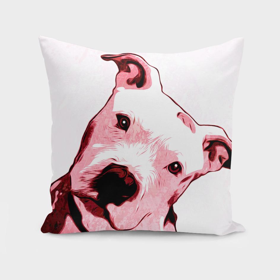 Pink Pit bull   Pop Art