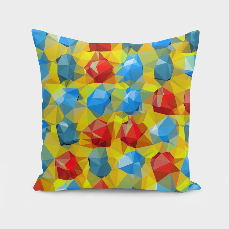 geometric polygon abstract pattern yellow blue red