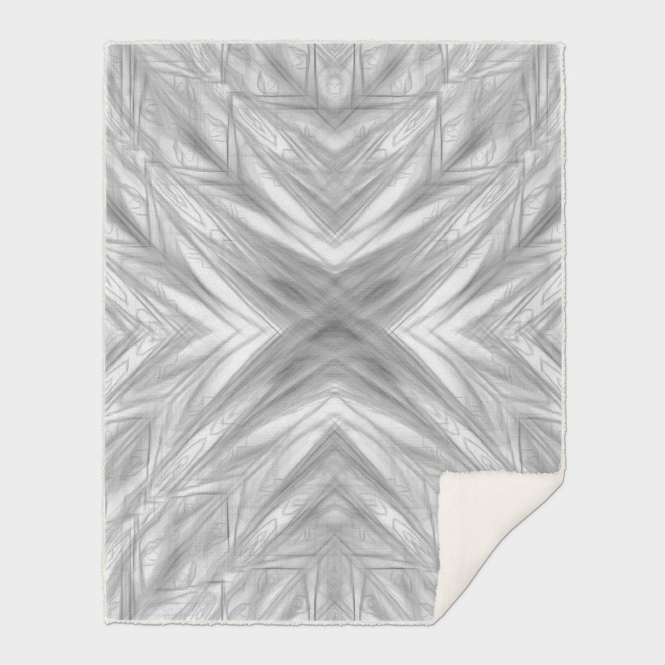 psychedelic drawing symmetry art abstract in black and white