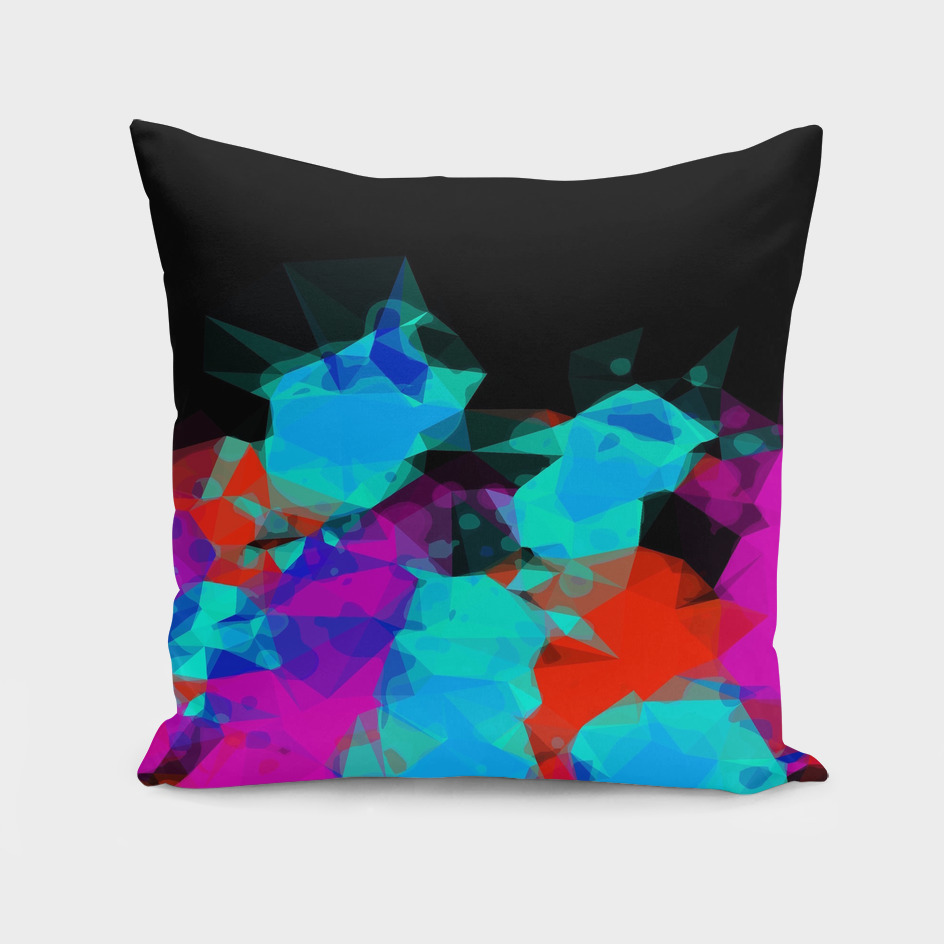 geometric triangle abstract pattern in pink blue red