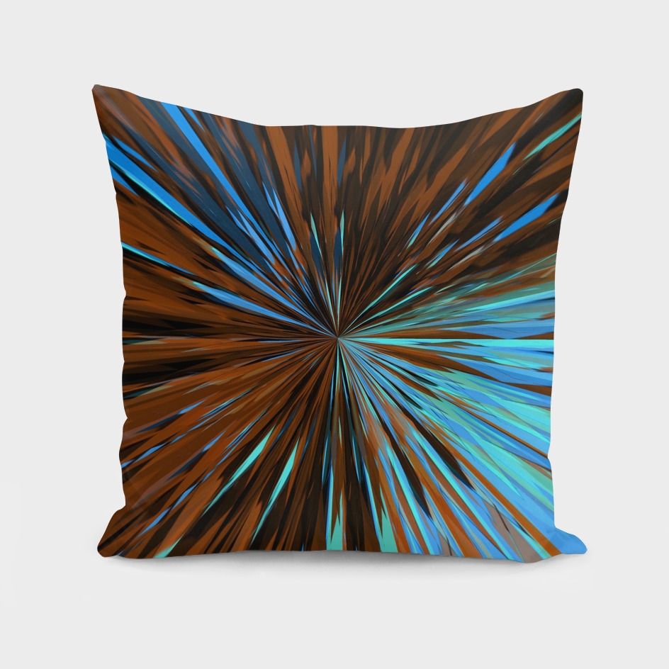 psychedelic splash painting abstract pattern in brown blue