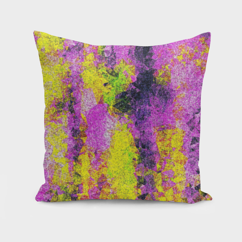 vintage psychedelic painting texture abstract in pink yellow