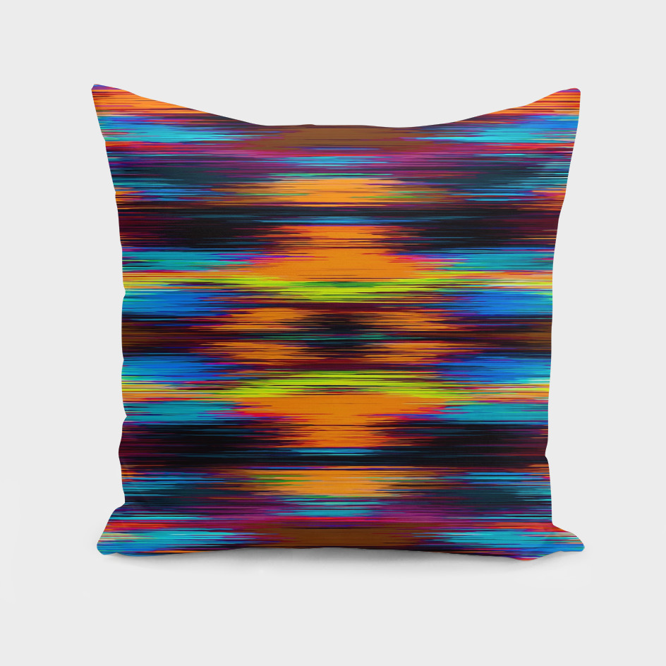 vintage psychedelic geometric abstract in brown blue yellow