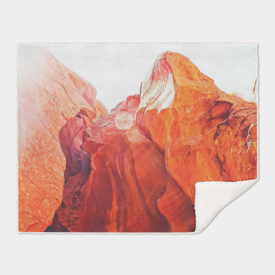 texture of the orange rock and stone at Antelope Canyon, USA