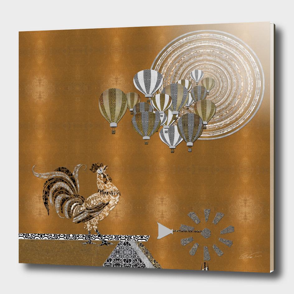 Balloon Race Reveler at The World's Fair (Gold Leaf)
