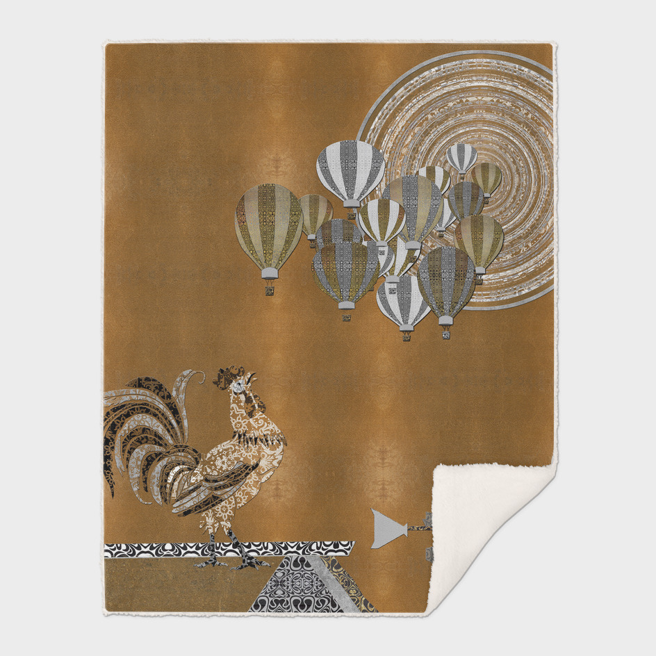 Balloon Race Reveler at The World's Fair (Gold Leaf)