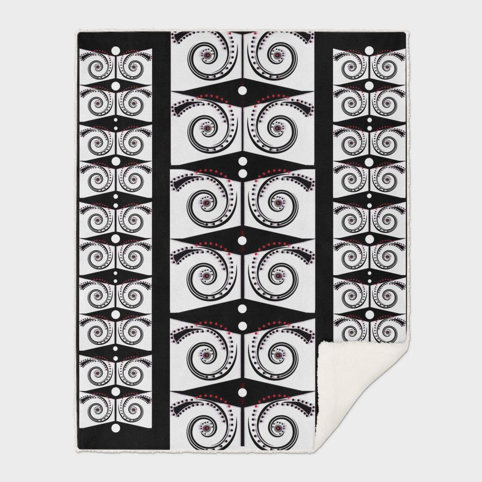 decorative cartoon pattern with dots