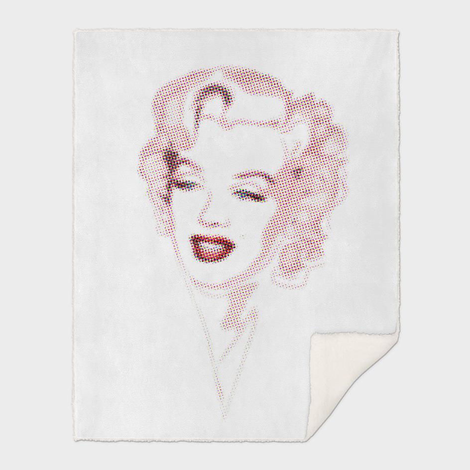Marilyn Monroe | Halftone | Pop Art