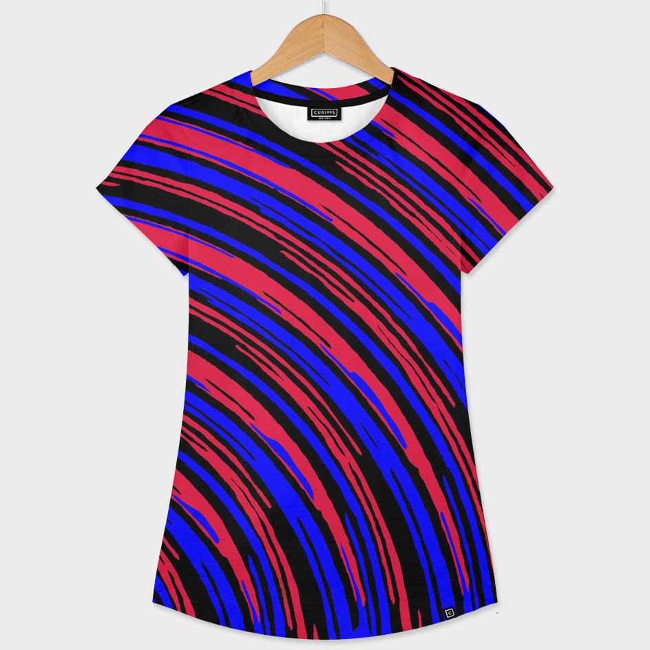 graffiti line drawing abstract pattern in red blue and black