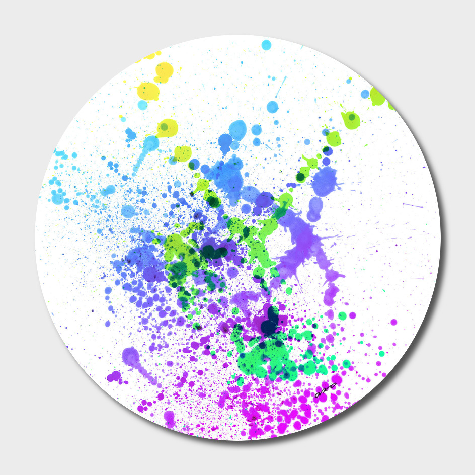 Multicolor Madness - Abstract Splatter Art