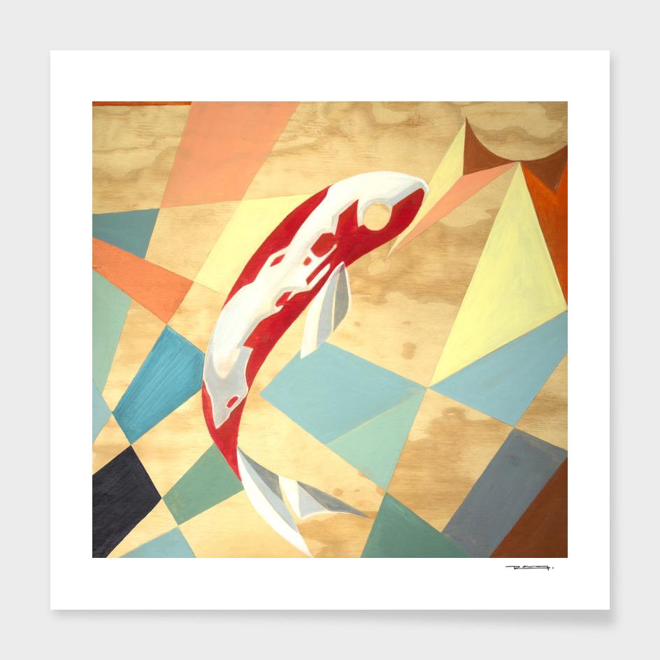 Koi fish abstract illustration