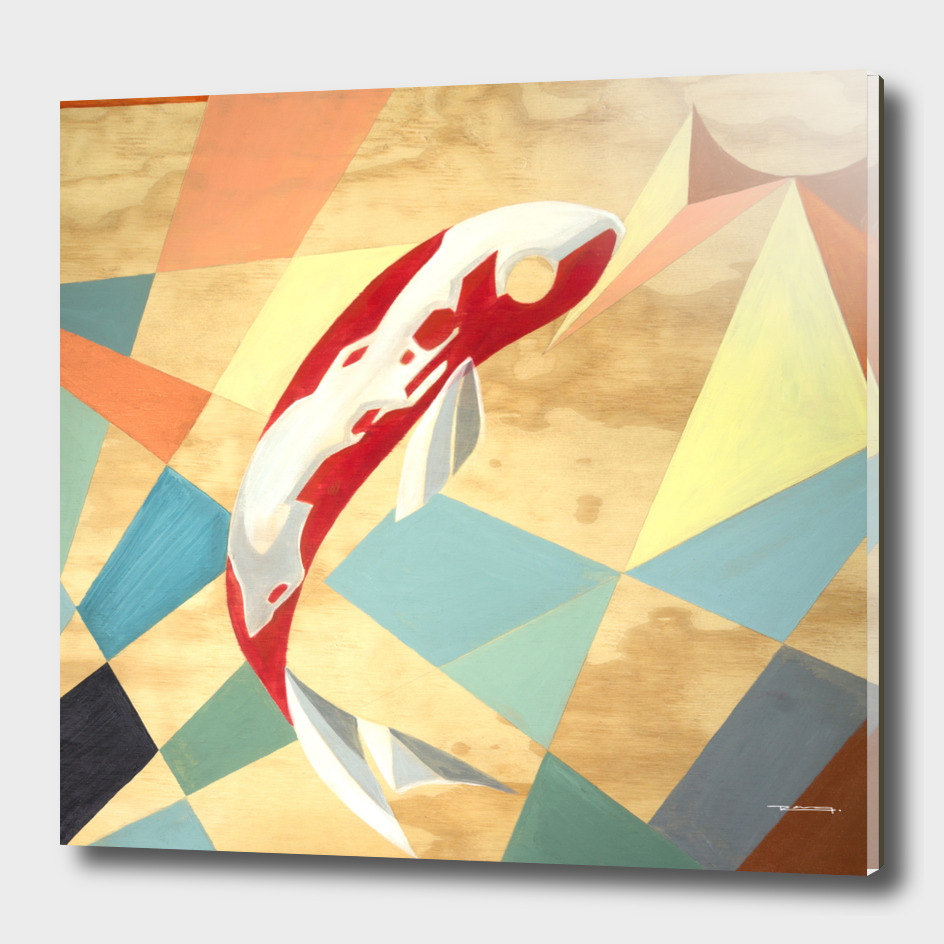 Koi fish abstract illustration