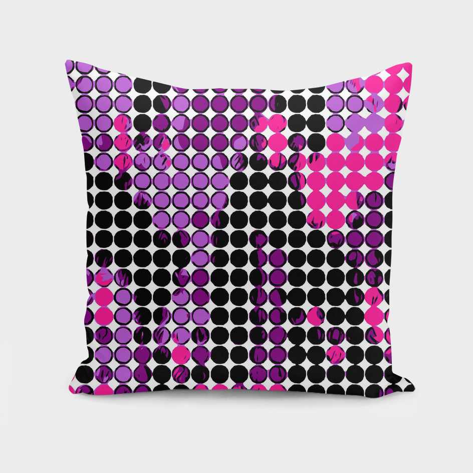 circle pattern graffiti drawing abstract in purple pink
