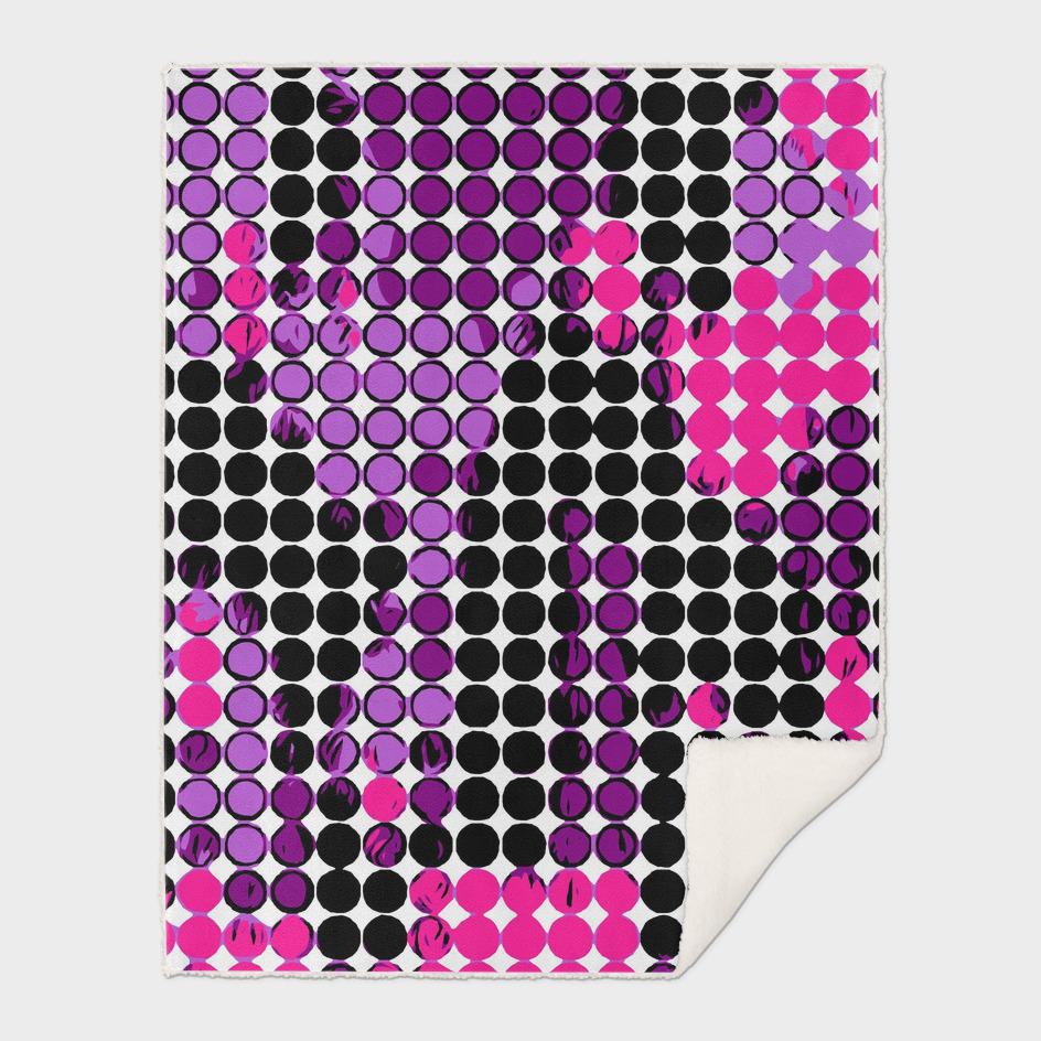 circle pattern graffiti drawing abstract in purple pink