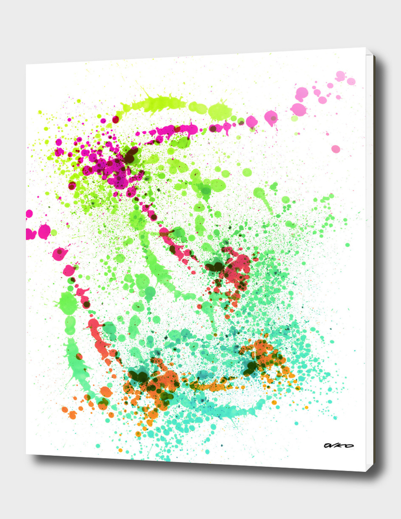 Screamin' Green - Abstract Splatter Art