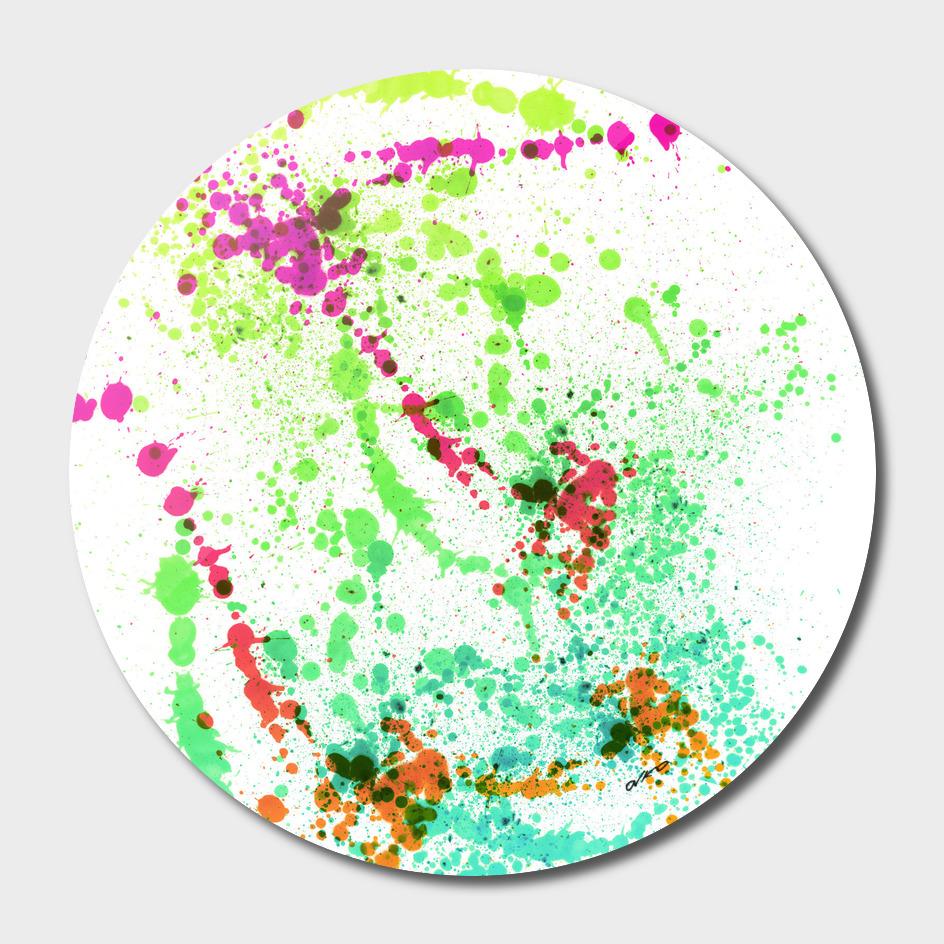 Screamin' Green - Abstract Splatter Art