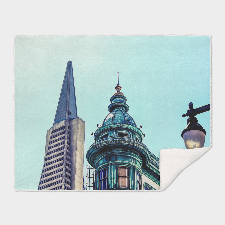 pyramid building and vintage style building at San Francisco
