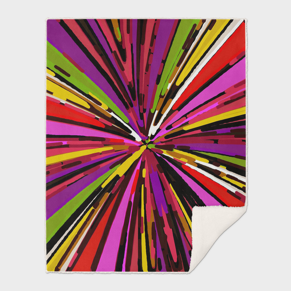 psychedelic geometric pattern in pink purple yellow red