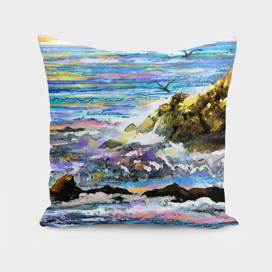 Ocean Wave on Rocks (1)