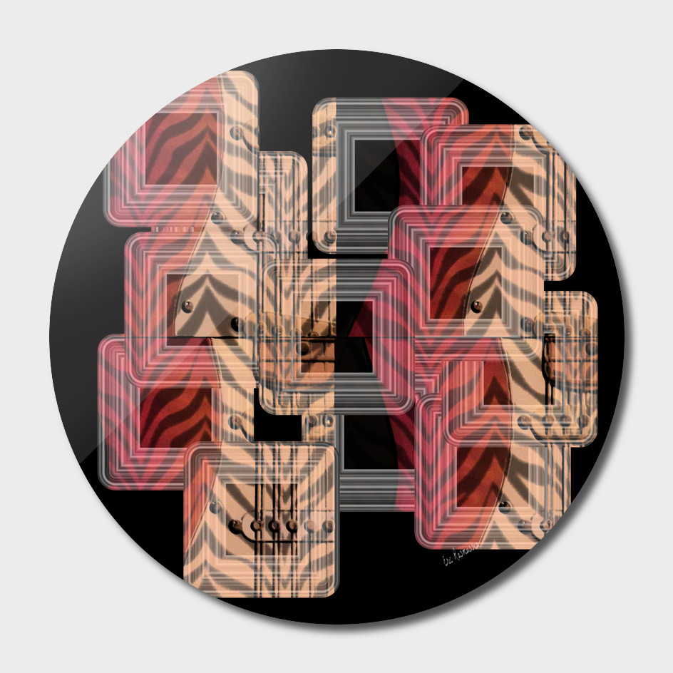 Zebra Guitar Collage