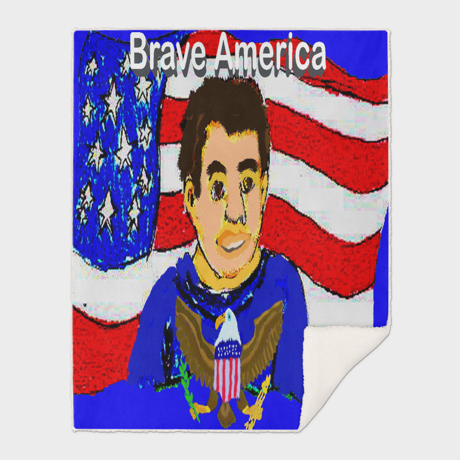 Brave-America Flag