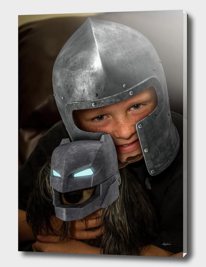 Armor Boy and Bat Dog