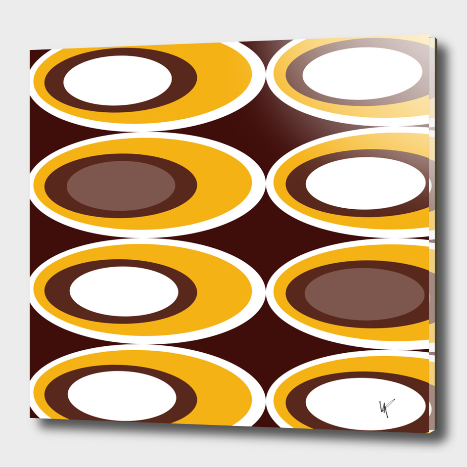 Retro Ovals - Chocolate Toffee