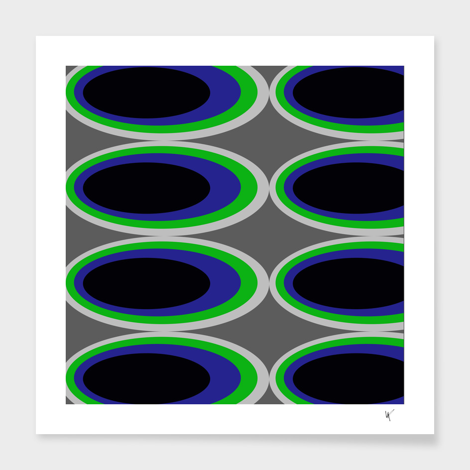 Retro Ovals - Sea Turf