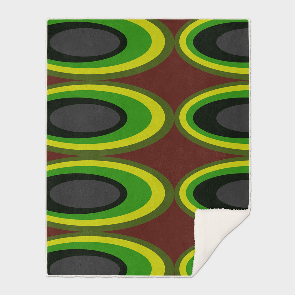 Retro Ovals - Banana Plantation