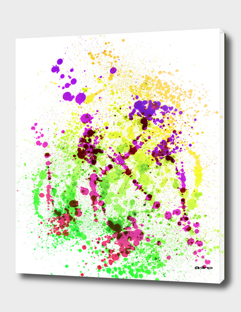 Lime Time - Abstract Splatter Art